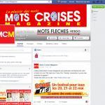 Page Facebook  de Mots Croisés Magazine